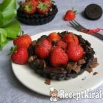 Epres-oreós-csokoládés minipiték sütés nélkül
