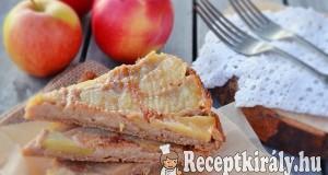 Fordított diós alma torta tojás nélkül