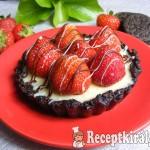 Sütés nélküli fehércsokoládés-epres mini pite 3