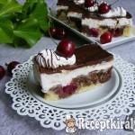 Túrókrémes meggyes sütemény 2