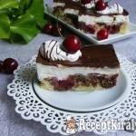 Túrókrémes meggyes sütemény 3