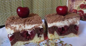 Krémes cseresznyés sütemény