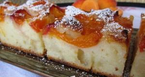 Sárgabarackos-joghurtos sütemény