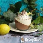 Csokoládé és fehércsokoládé lime panna cotta 1