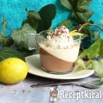 Csokoládé és fehércsokoládé lime panna cotta 2