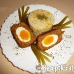Lágy főtt tojás panírozott fasírtbundában