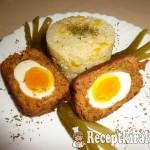 Lágy főtt tojás panírozott fasírtbundában 2