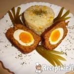 Lágy főtt tojás panírozott fasírtbundában 3
