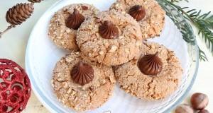 Nutellás mogyorós keksz