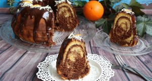 Csokoládés-narancsos márványos kuglóf