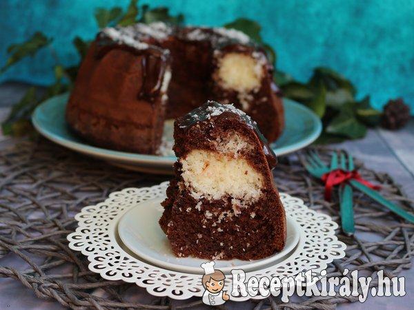 Kókuszos brownie kuglóf