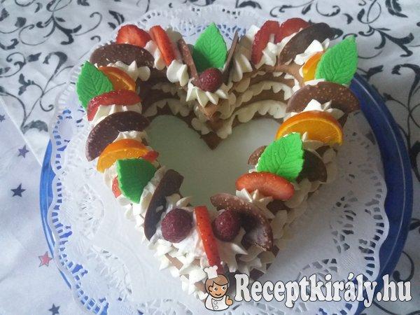Szívecske torta